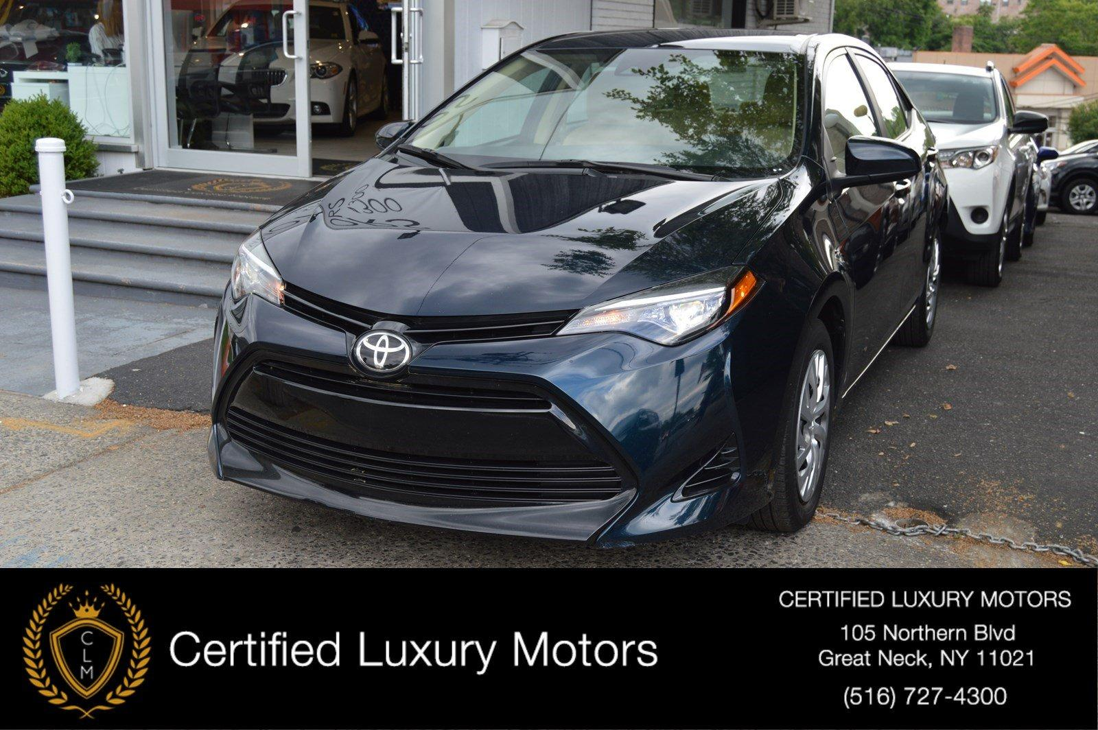 2017 toyota corolla le stock 7670 for sale near great neck ny ny toyota dealer. Black Bedroom Furniture Sets. Home Design Ideas