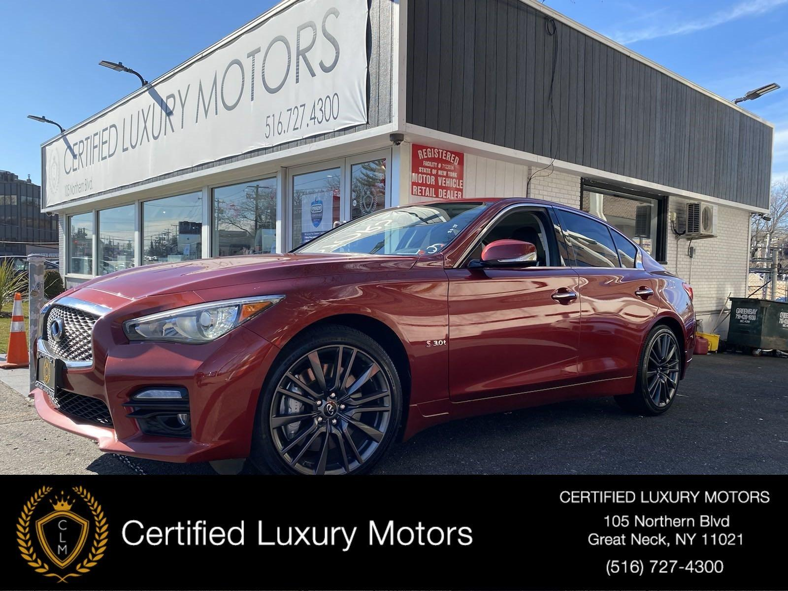 Used 2016 INFINITI Q50 3.0t Red Sport 400 | Great Neck, NY
