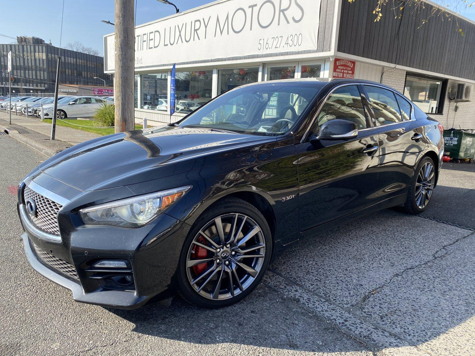 Used 2017 INFINITI Q50 Red Sport 400   Great Neck, NY