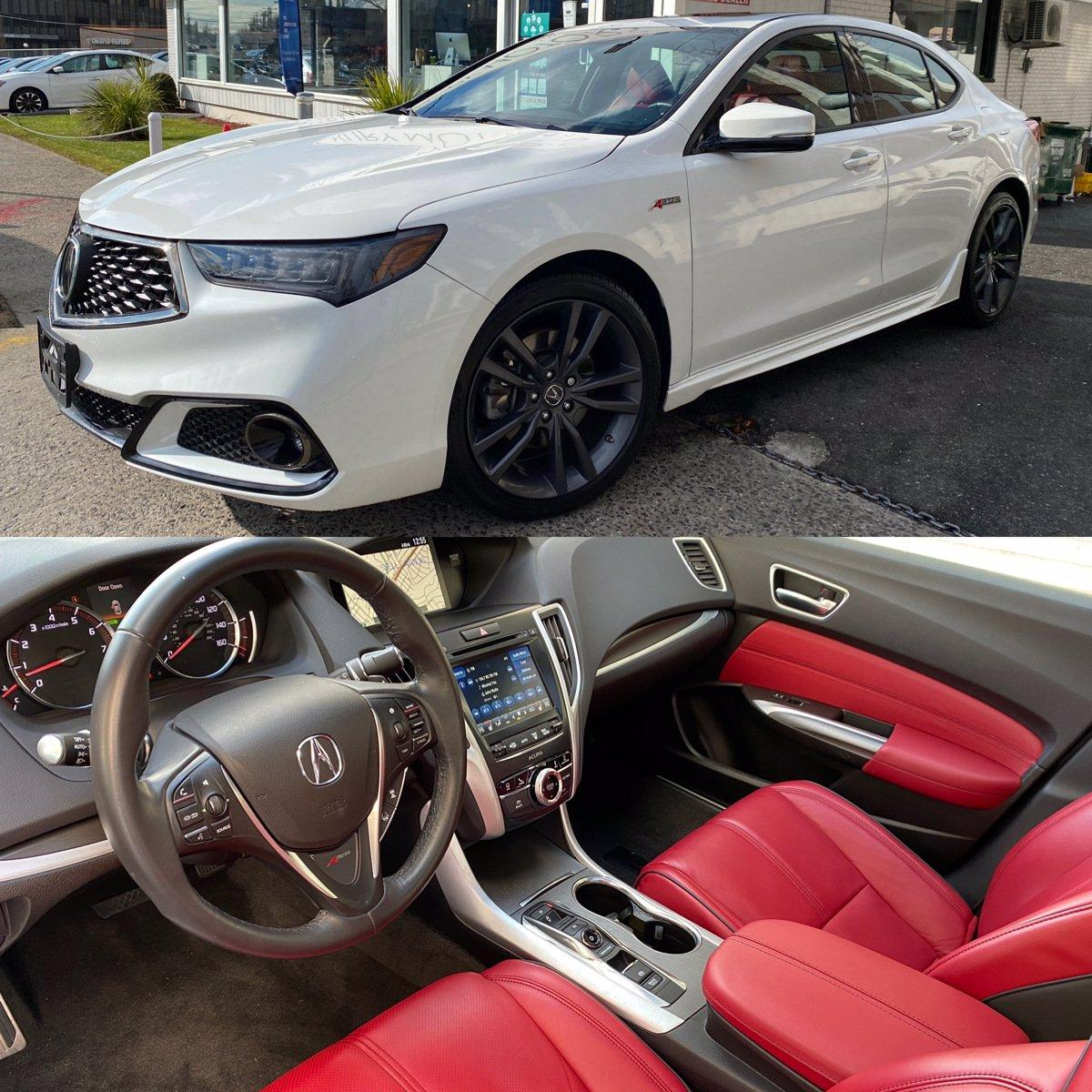 Used 2018 Acura TLX w/A-SPEC Pkg Red Leather | Great Neck, NY