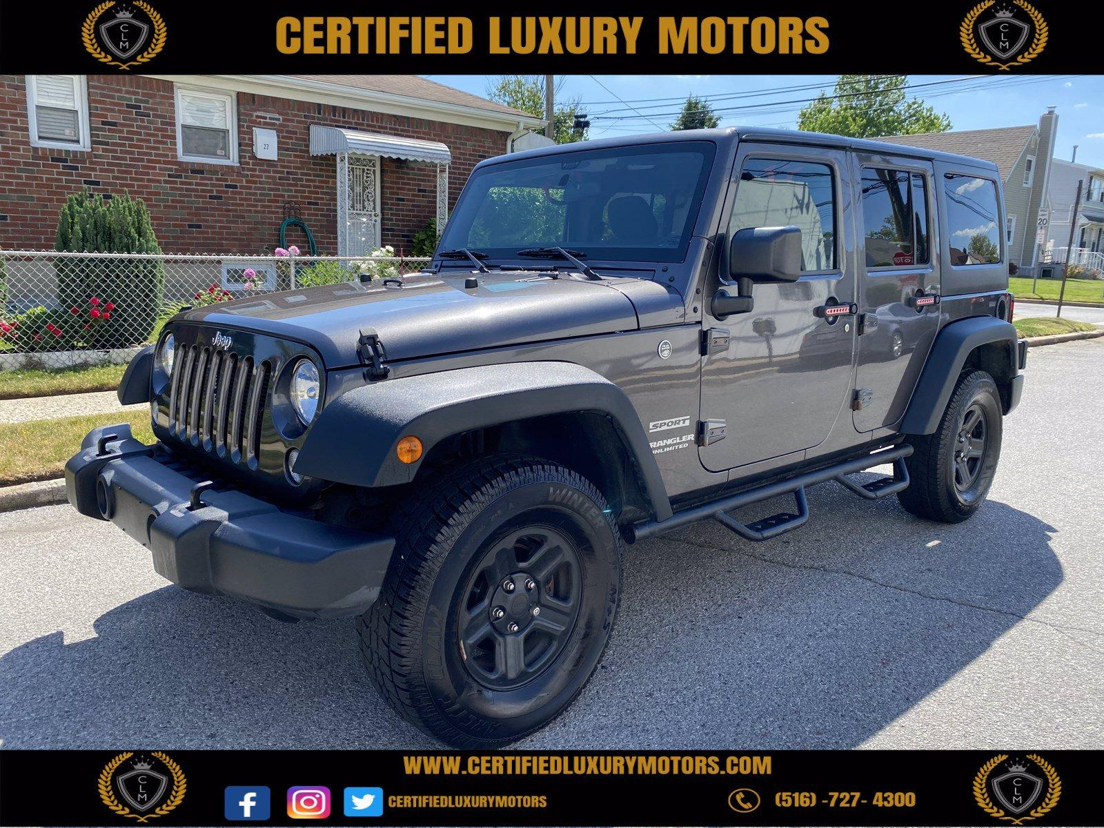 Used 2016 Jeep Wrangler Unlimited Sport | Great Neck, NY