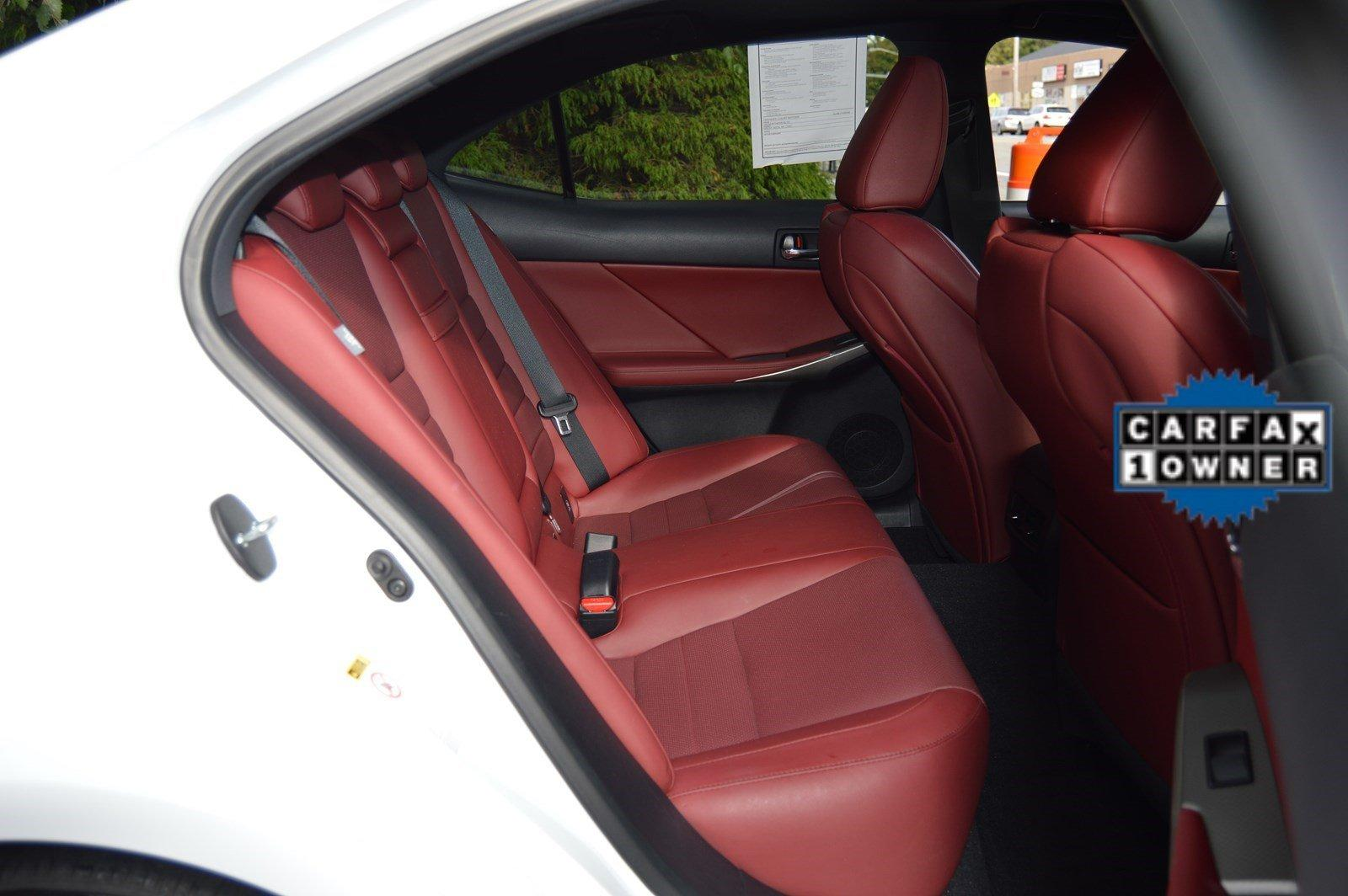 Lexus Car With Red Interior