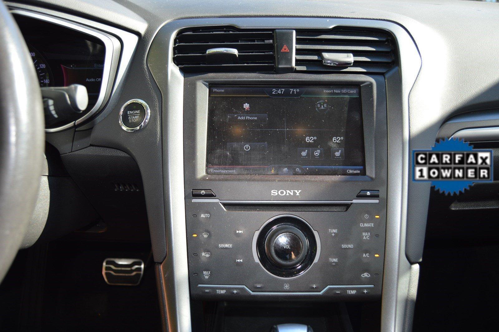 2015 Ford Fusion Titanium Limited Edition Red Interior