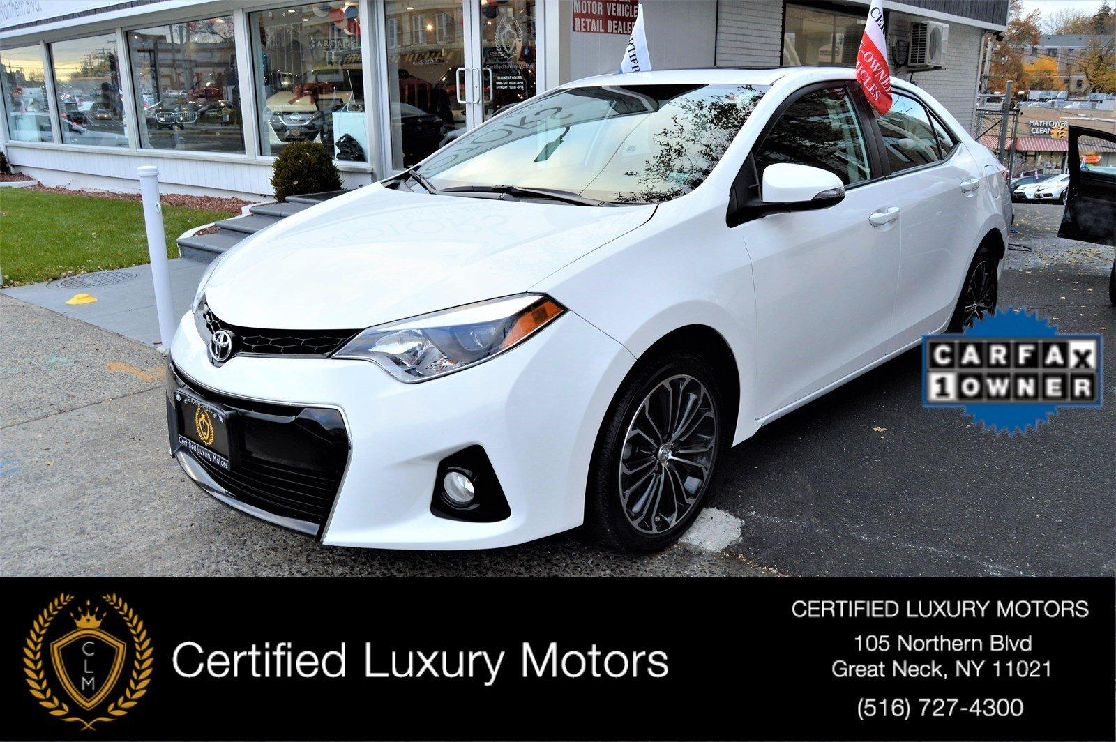 2015 toyota corolla s premium stock 7956 for sale near great neck ny ny toyota dealer. Black Bedroom Furniture Sets. Home Design Ideas