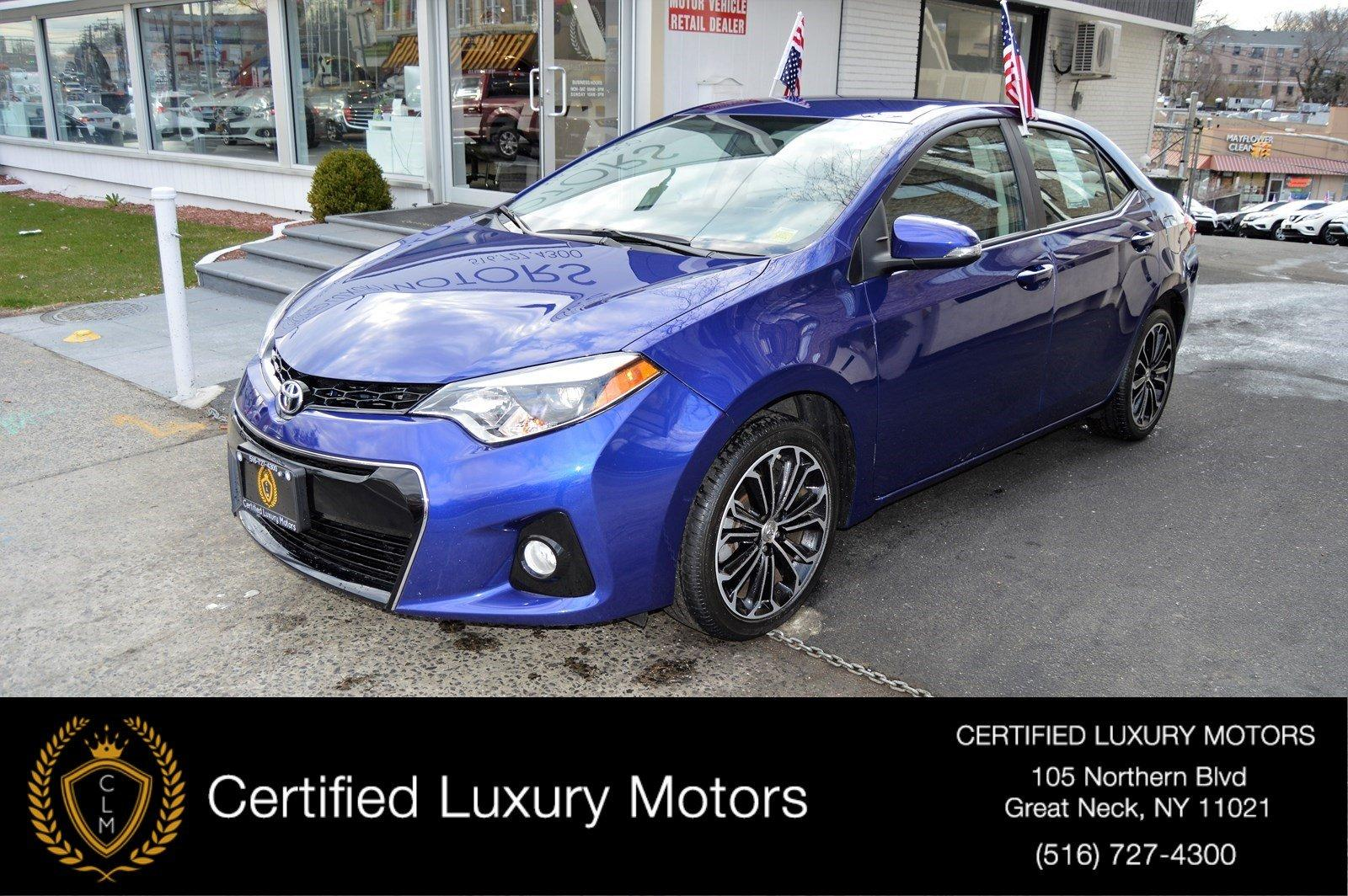 2015 toyota corolla s plus stock 7372 for sale near great neck ny ny toyota dealer. Black Bedroom Furniture Sets. Home Design Ideas